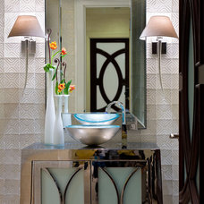 Eclectic Powder Room by KuDa Photography