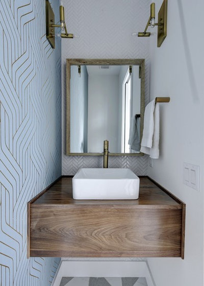 Scandinavian Powder Room by Melisa Clement Designs