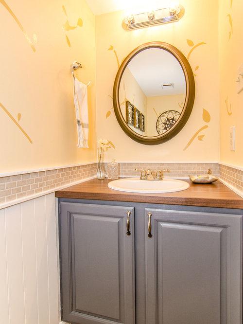 g stetoilette g ste wc mit laminat waschtisch ideen f r g stebad und g ste wc design. Black Bedroom Furniture Sets. Home Design Ideas