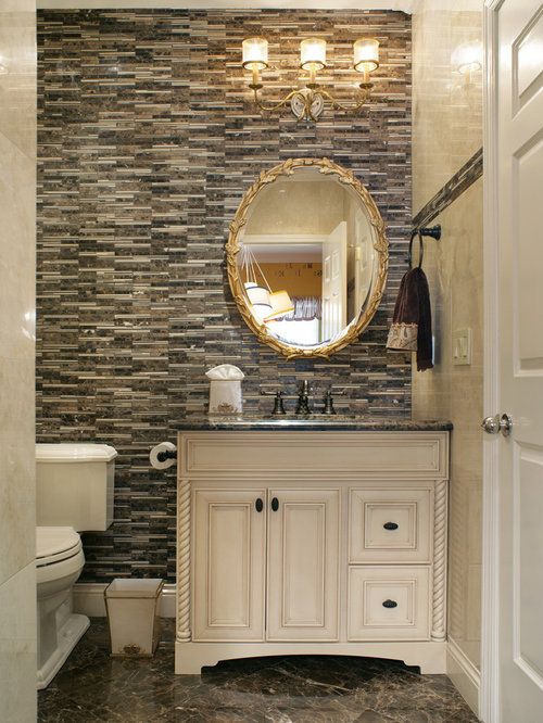 Small powder room houzz - Tiny powder room ideas ...