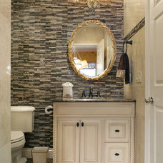 Traditional Powder Room by Marina Klima Goldberg - Klima Design Group