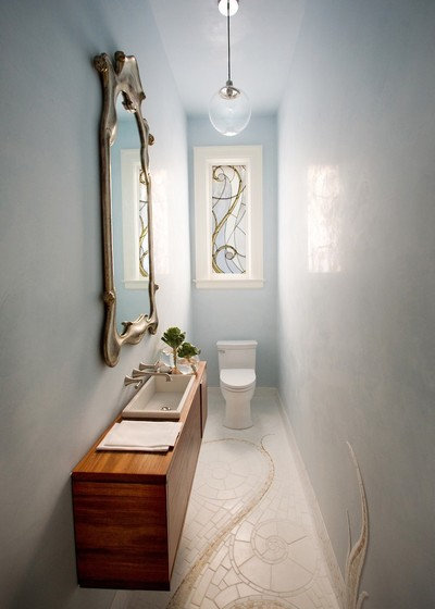 Victorian Powder Room by Marsh and Clark Design