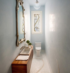 contemporary powder room by Marsh and Clark Design