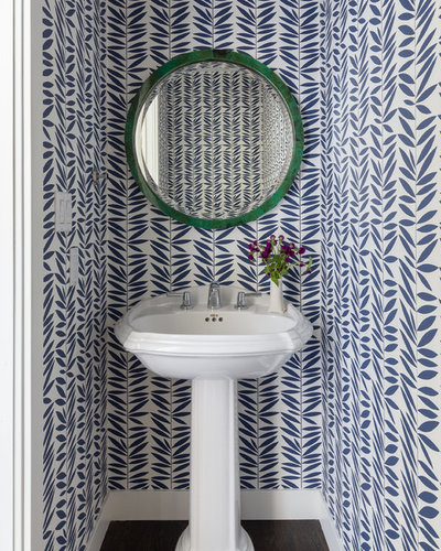 Beach Style Powder Room by Kimberley Harrison Interiors