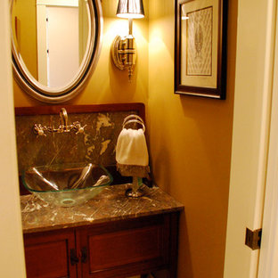 Inspiration for a timeless powder room remodel in Other