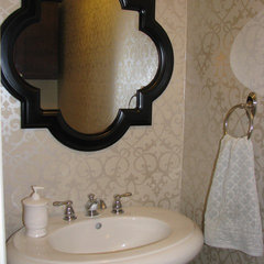 eclectic powder room by Naveed