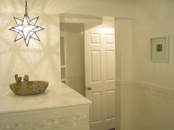 Contemporary Powder Room by Your Favorite Room By Cathy Zaeske