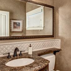 Traditional Powder Room by Provanti Designs, Inc