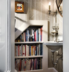 traditional powder room by Smith & Vansant Architects PC