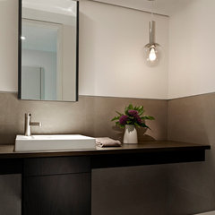 modern powder room by k YODER design, LLC