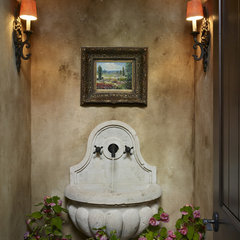 mediterranean powder room by MQ Architecture & Design, LLC