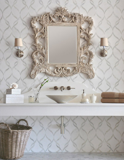 Eclectic Bathroom by Sara Baldwin Design