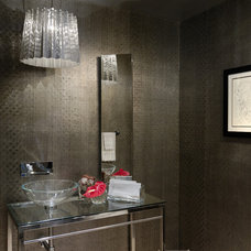 Contemporary Powder Room by nls creations, inc.