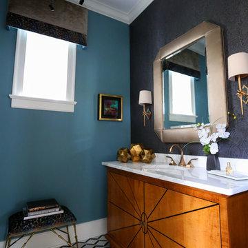 Sophisticated Powder Bathroom on Penn