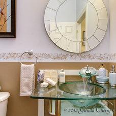 Modern Powder Room by Glenda Cherry Photography