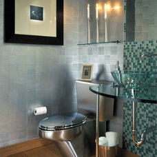 Modern Powder Room by Dianne Joyce Design Company