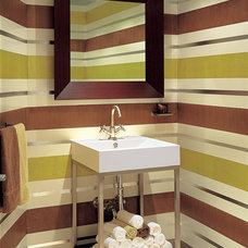Modern Powder Room by Nieto Design Group