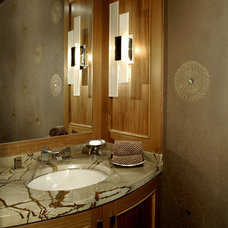 Modern Powder Room by Kendall Marcelle Design Assoc. Inc.