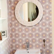 Contemporary Powder Room by Uma Stewart Interiors & Lifestyle