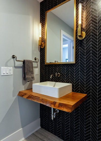 Contemporary Powder Room by Michaelson Homes LLC
