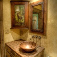 Rustic Powder Room by Maison et Jardin LLC