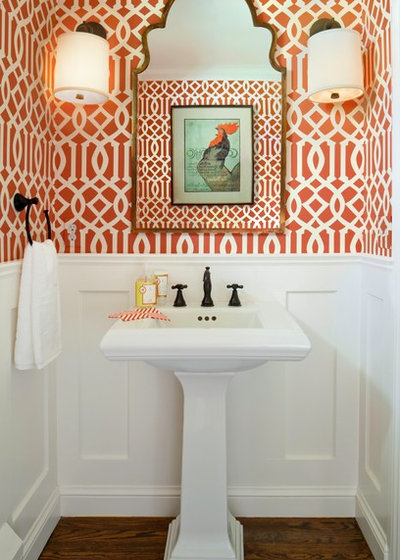 Contemporary Powder Room by Laura Iverson Design