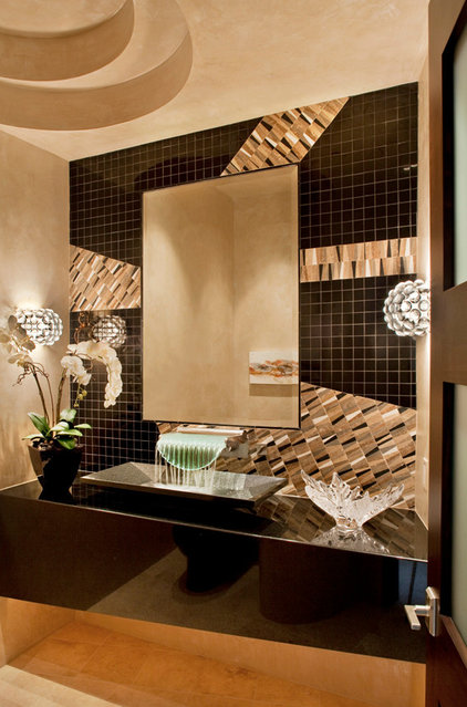 Contemporary Powder Room by The Phil Nichols Company