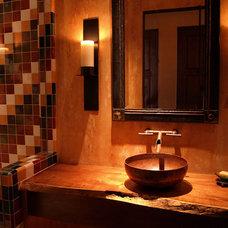 Traditional Powder Room by Samartzis Minchew Design, LLC