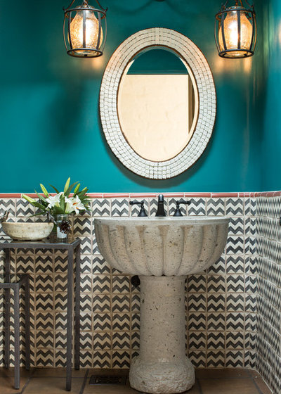 American Southwest Powder Room by Chandler Prewitt Interior Design