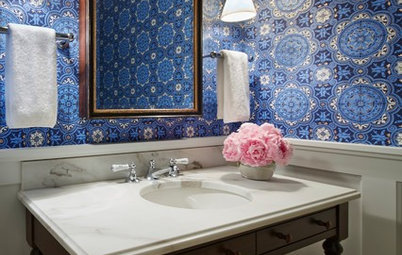 Yes, You Can Go Bold With Wallpaper in a Powder Room