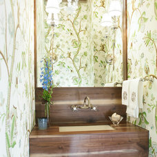 Eclectic Powder Room by EPID