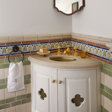 Mediterranean Powder Room by Astleford Interiors, Inc.