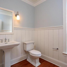 Traditional Powder Room by Gulfshore Design