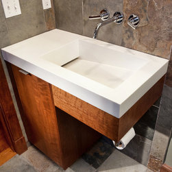 Wonderful Customglassbathroomvanityjanssenkansascity