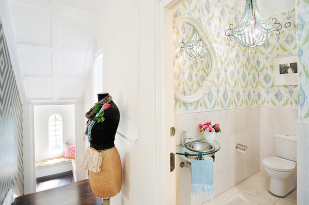 Transitional Powder Room by Bronwyn Poole of Touch Interiors