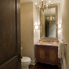 traditional powder room by Schrader & Companies