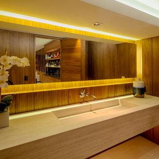 Moderne Gästetoilette in Los Angeles