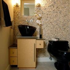Contemporary Powder Room by Arcterior Design