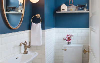 12 Stylish Powder Rooms People Couldn't Get Enough of in 2018