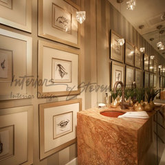 contemporary powder room by Interiors by Steven G