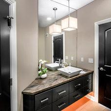 Transitional Bathroom by Rezac Construction