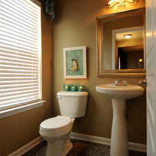 Traditional Powder Room by Nanette Robinson / Lake Norman Home Staging and De