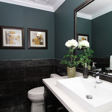 Modern Powder Room by KASHMIR DHALIWAL FINE REDESIGN.