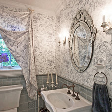 Traditional Powder Room by RANERE DESIGN GROUP