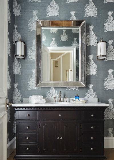 Tropical Cloakroom by JMA INTERIOR DESIGN