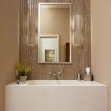 Contemporary Powder Room by Crown Designs