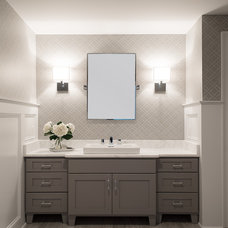Traditional Powder Room by Cory Connor Designs