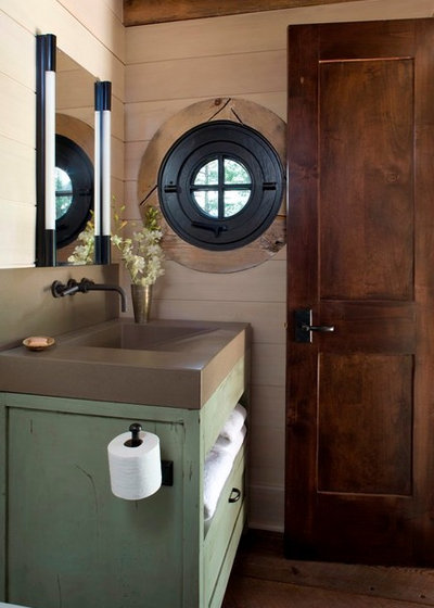 Rustic Powder Room by TKP Architects
