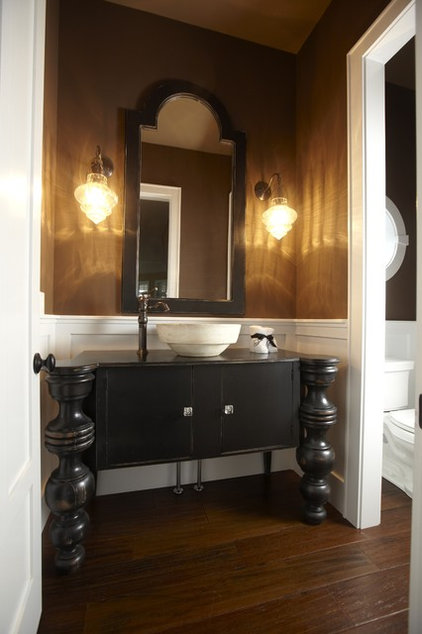 traditional powder room by Stonebreaker Builders & Remodelers
