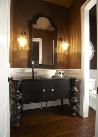 Traditional Powder Room by Stonebreaker Builders & Remodelers